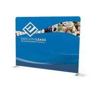 10ft Straight Tension  Fabric Display + Soft Canvas Bag Included