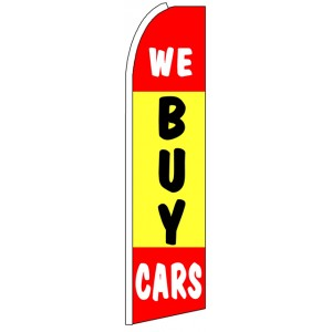 We Buy Cars - Advertising Feather Flag Banner