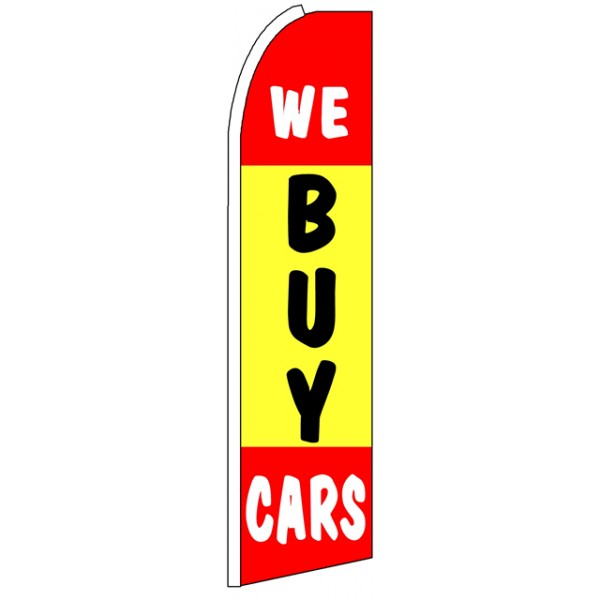 We Buy Cars Advertising Feather Flag
