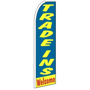 Trade-ins Welcome - Feather Flag Banner