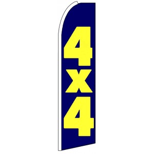 4 x 4 - Advertising Feather Flag Banner