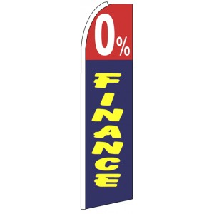 0% Finance - Advertising Feather Flag Banner