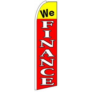 We Finance - Advertising Feather Flag Banner