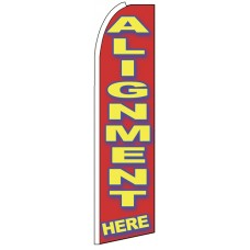 Alignment Here - Advertising Feather Flag Banner