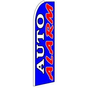 Auto Alarm - Blue Advertising Feather Flag Banner