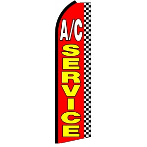 AC Service - Advertising Feather Flag Banner