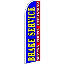 Brake Service - Blue Feather Flag Banner