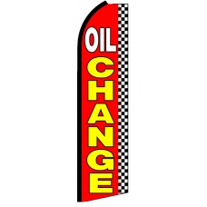 Oil Change - Advertising Feather Flag Banner