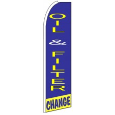 Oil Filter & Change - Feather Flag Banner