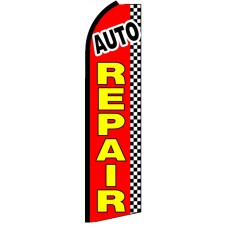 Auto Repair - Advertising Feather Flag Banner
