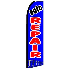Auto Repair - Blue Advertising Feather Flag Banner