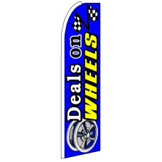 Deals On Wheels - Advertising Feather Flag Banner
