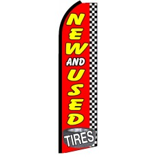 New & Used Tires - Advertising Feather Flag Banner