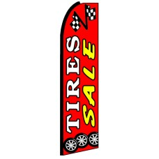 Tire Sale - Red Advertising Feather Flag Banner