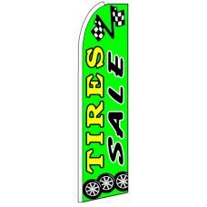 Tire Sale - Green Advertising Feather Flag Banner