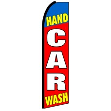 Hand Car Wash - Advertising Feather Flag Banner