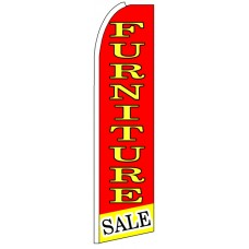 Furniture - Red Advertising Feather Flag Banner