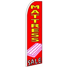 Mattress Sale - Red Feather Flag Banner