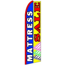 Mattress Sale - Multicolor Advertising Feather Flag