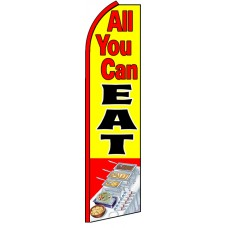 All You Can Eat - Advertising Feather Flag Banner