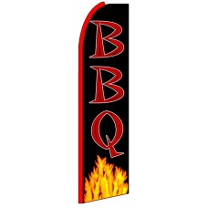 BBQ - Advertising Feather Flag Banner