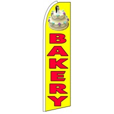 Bakery - Yellow Advertising Feather Flag Banner