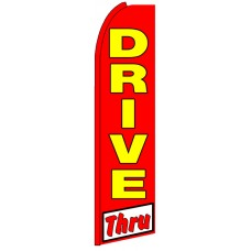 Drive Thru - Advertising Feather Flag Banner