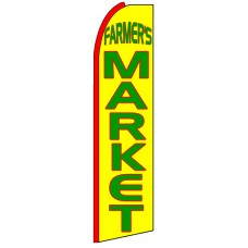 Farmer's Market - Advertising Feather Flag Banner