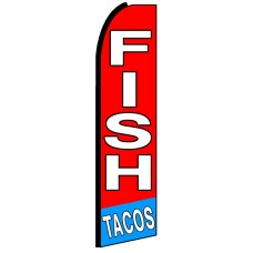 Fish Tacos - Advertising Feather Flag Banner