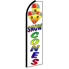 Snow Cones - Advertising Feather Flag Banner
