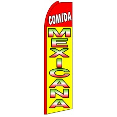 Comida Mexicana - Feather Flag Banner