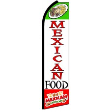 Mexican Food - Advertising Feather Flag Banner
