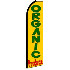 Organic Produce - Advertising Feather Flag Banner