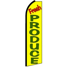 Fresh Produce - Advertising Feather Flag Banner