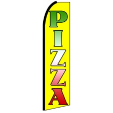 Pizza - Yellow Advertising Feather Flag Banner