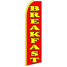 Breakfast - Advertising Feather Flag Banner