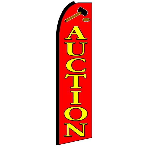 Auction Advertising Feather Flag