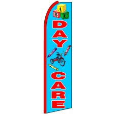 Daycare - Blue Advertising Feather Flag Banner