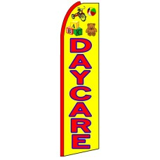 Daycare - Yellow Advertising Feather Flag Banner