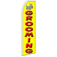 Grooming - Advertising Feather Flag Banner