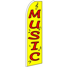 Music - Advertising Feather Flag Banner