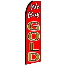 We Buy Gold - Advertising Feather Flag Banner