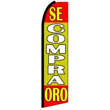 Se Compra Oro - Advertising Feather Flag Banner