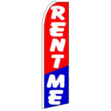 Rent Me - Advertising Feather Flag Banner