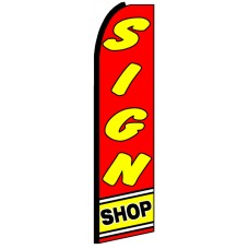 Sign Shop - Advertising Feather Flag Banner