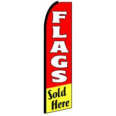 Flags Sold Here - Advertising Feather Flag Banner