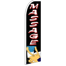 Massage - Advertising Feather Flag Banner