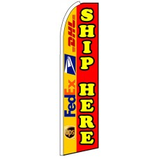Ship Here - Advertising Feather Flag Banner