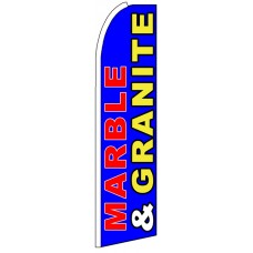 Marble & Granite - Blue Advertising Feather Flag