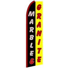 Marble & Granite - Advertising Feather Flag Banner